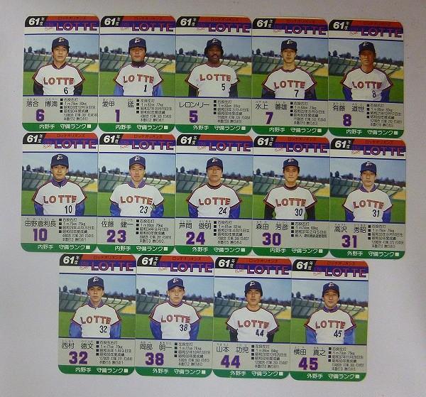 タカラ プロ野球ゲーム カード 61年 ロッテオリオンズ 落合_2