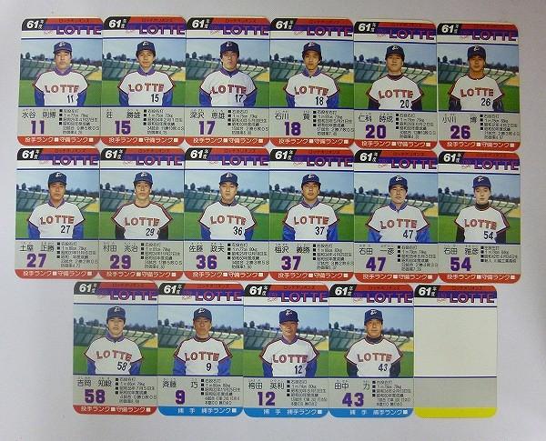 タカラ プロ野球ゲーム カード 61年 ロッテオリオンズ 落合_3