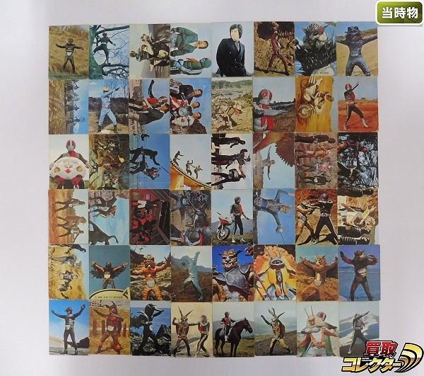 カルビー 当時物 旧 仮面ライダー カード 116-195 48枚 一文字_1