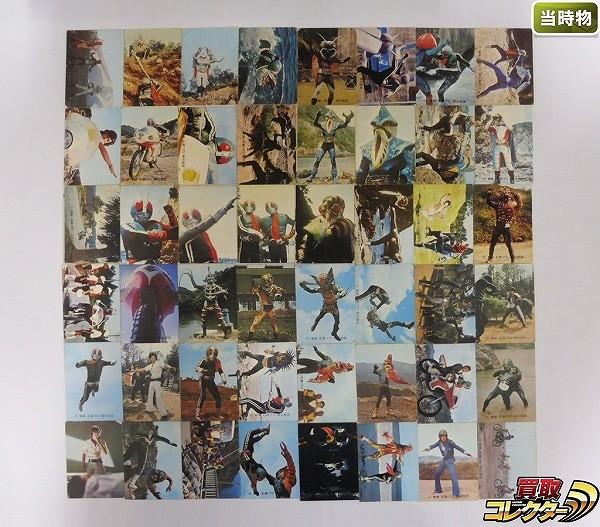 カルビー 当時物 旧 仮面ライダー カード 196-342 48枚 1号 2号_1