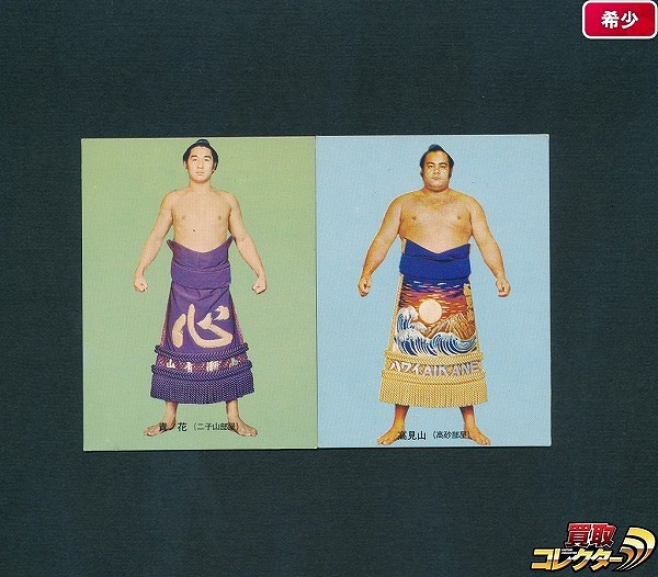 カルビー 大相撲 カード 73年 6 貴ノ花満 11 高見山大五郎