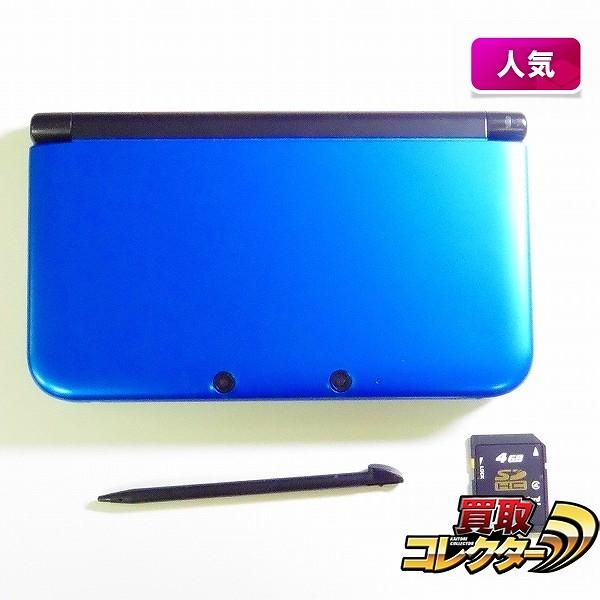 ニンテンドー 3DS LL 本体 ブルー×ブラック  4GB  SDカード_1