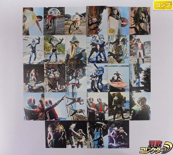 カルビー 当時 旧 仮面ライダー カード 225-252 28枚 コンプ_1