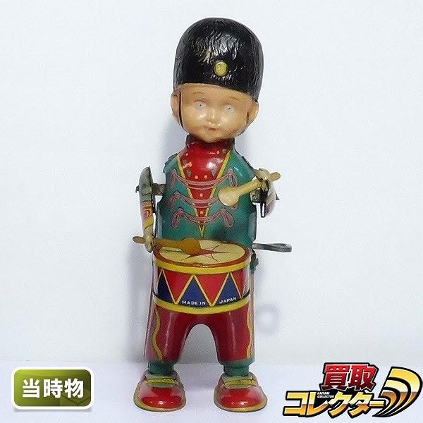 鈴木玩具 当時物 鼓笛隊の少年 ゼンマイ 日本製 / ブリキ 人形
