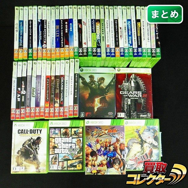 Xbox 360 ソフト 52本 GTA 4 5 P4U COD スカイリム 他