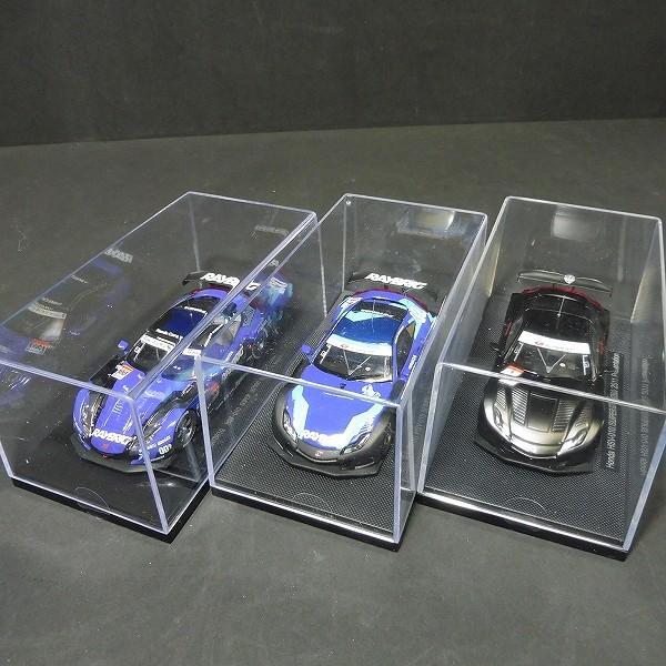 エブロ 1/43 RAYBRIG HSV-010 SUPER GT500 2011 3種_3