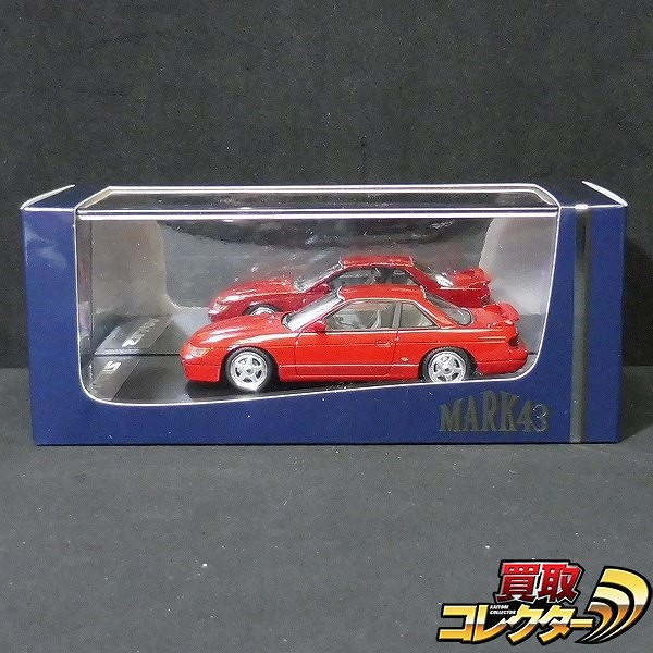 MARK43 1/43 日産 シルビア K's S13 Customized Version Red