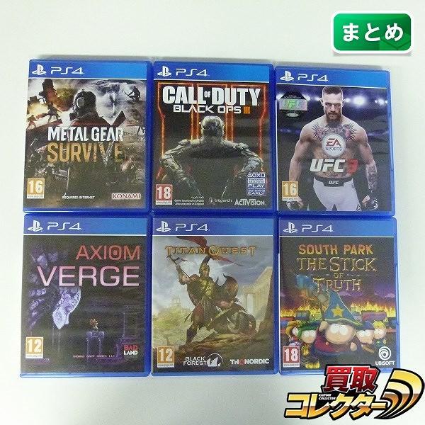 PS4 英語版 ソフト 6点 メタルギア サウスパーク 他