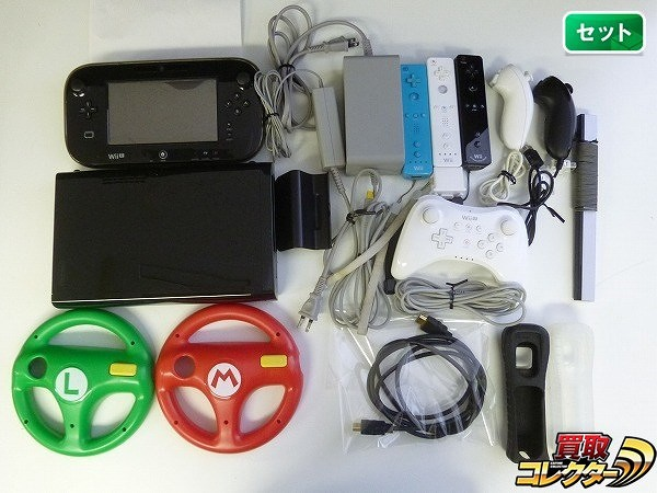 WiiU 本体 パッド リモコン 3台 Proコントローラ ハンドル 他