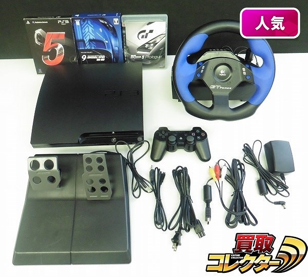 PS3 CECH-2000B 黒 グランツーリスモ GT FORCE ソフト
