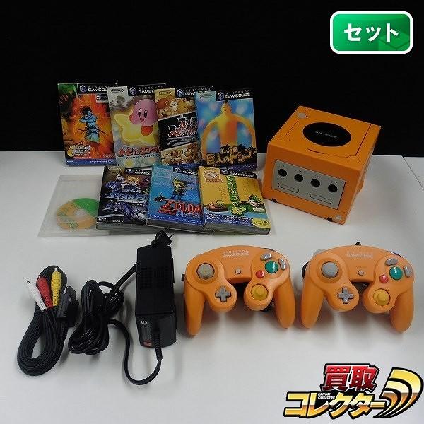 ゲームキューブ オレンジ ソフト 8本 カービィのエアライド 他