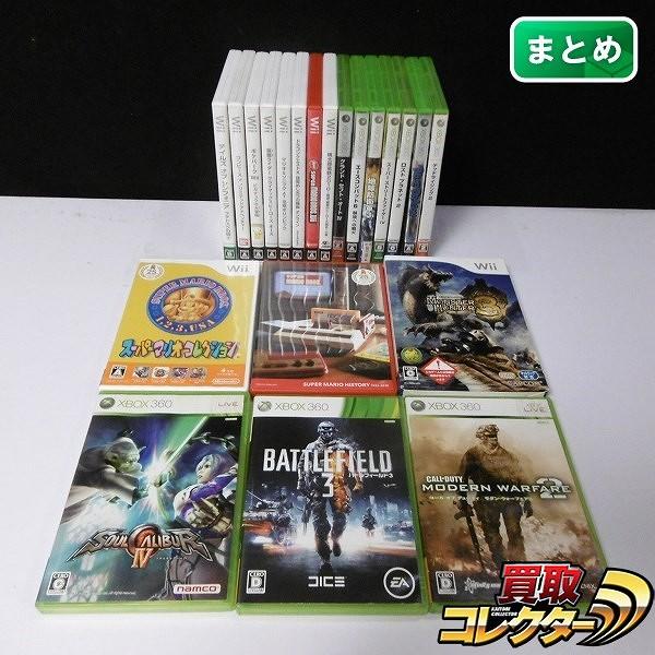 Wii Xbox360 ソフト マリオ ポケモン ソウルキャリバー 他