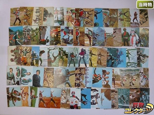 カルビー 当時物 旧 仮面ライダー スナック カード 73~150 70枚