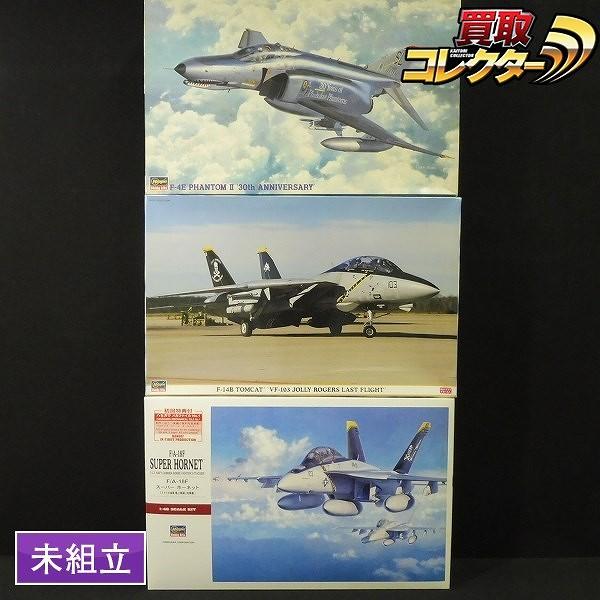 ハセガワ 1/48 F-14B VF-103 ラストフライト F/A-18F F-4E 30th