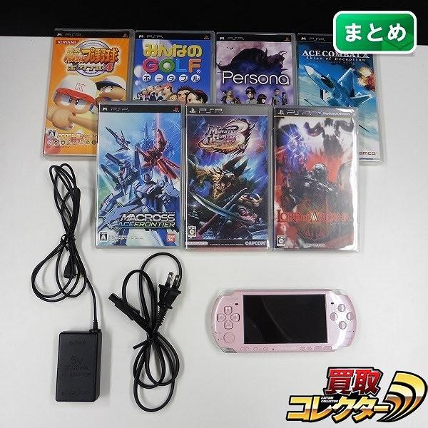 SONY PSP-3000 ソフト ペルソナ パワプロ みんゴル 他 計7本