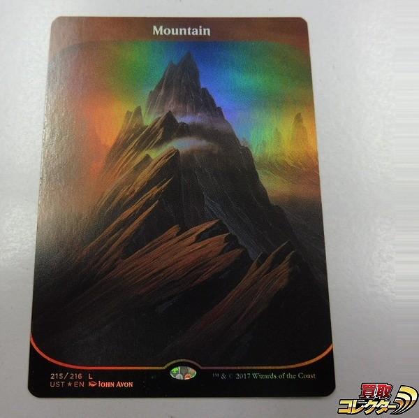 MTG 山 Mountain 英語版 Foil 1枚 UST 土地 赤 Unstable