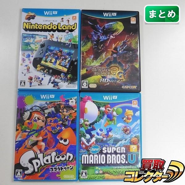 Wii Uソフト 4本 スプラトゥーン マリオU モンハン3 G HDver. 他