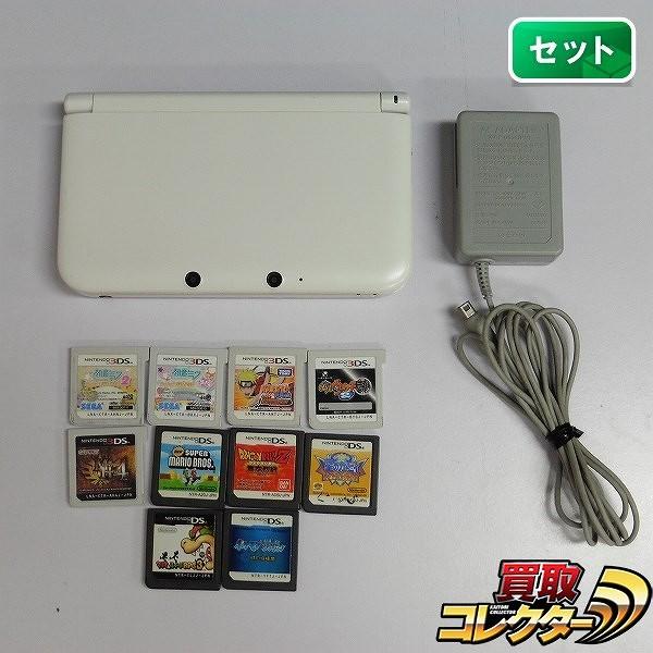 3DS LL + ソフト10本 初音ミク モンハン マリオ カービィ 他