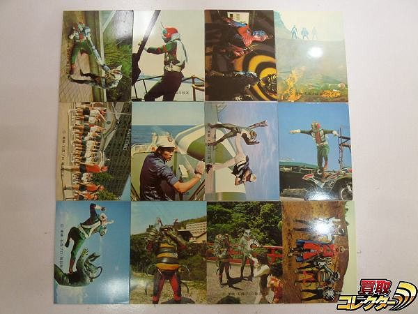 カルビー 旧 仮面ライダー V3 スナック カード 320-377 12枚