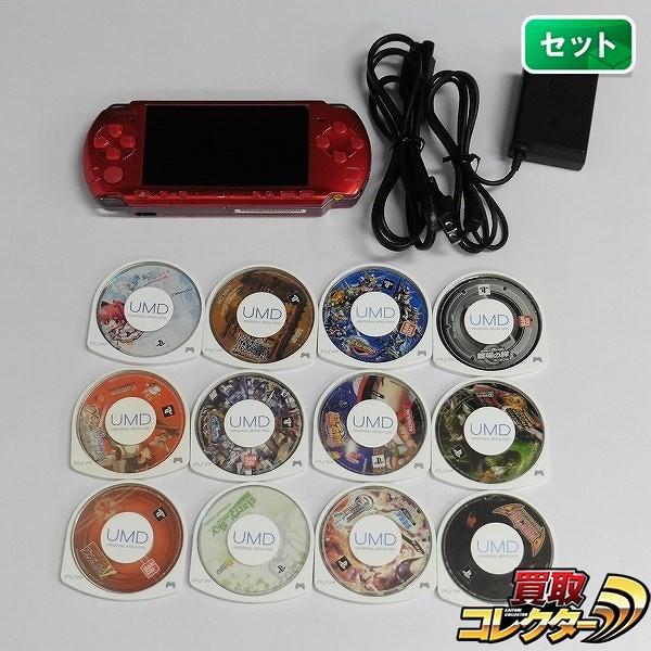 PSP-3000 + ソフト 12点 イース ギレンの野望 モンハン 2nd G 他_1