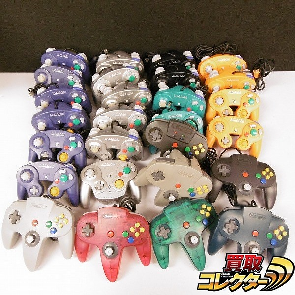 ニンテンドウ64 ゲームキューブ コントローラー 27台