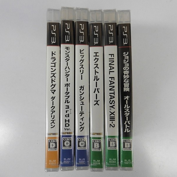 PS3 ソフト 6本 モンハン 3rd FF13-2 ビックスリー 他_3