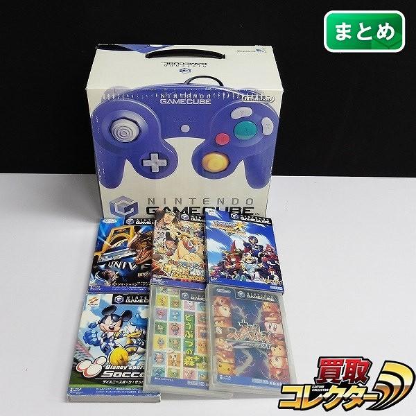ゲームキューブ バイオレット & ソフト スマブラDX ロックマンX 他