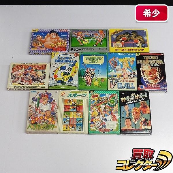 ファミコン ソフト 12本 つっぱり大相撲 コナミックスポーツ 他