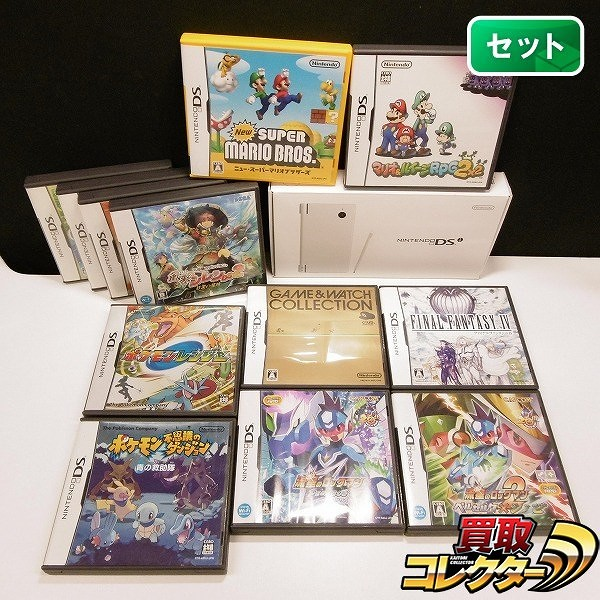DSi + ソフト 12本 ポケモン FF ぷよぷよ 真・女神転生 他