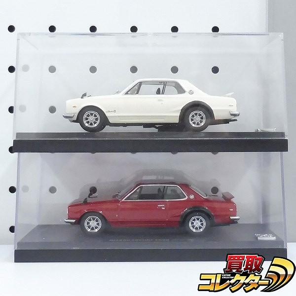 京商 1/43 ニッサン スカイライン2000GT-R レッド ホワイト