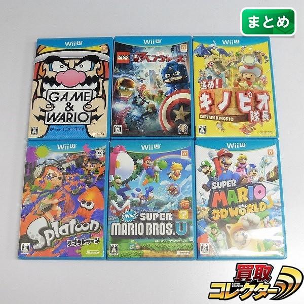Wii U ソフト ゲーム&ワリオ Newスーパーマリオブラザーズ U 他