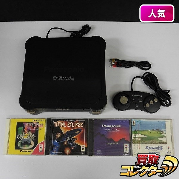 3DO REAL FZ-1 & ソフト 4本 TOTAL ECLIPSE ペブルビーチの波濤 他