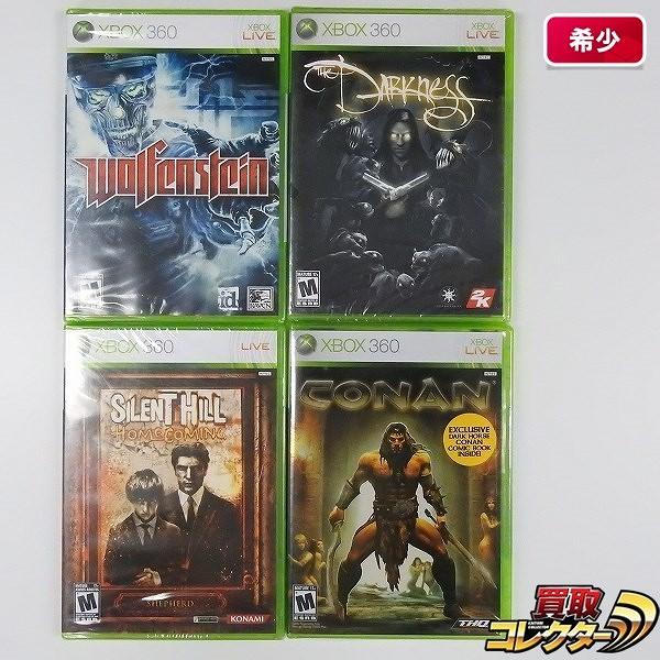 Xbox 360 ソフト 海外版 ダークネス コナン ウルフェンシュタイン 他