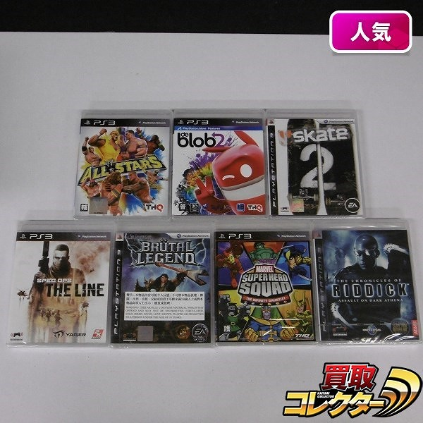 PS3 ソフト アジア版 MARVEL SUPERHERO SQUAD 他 計7点