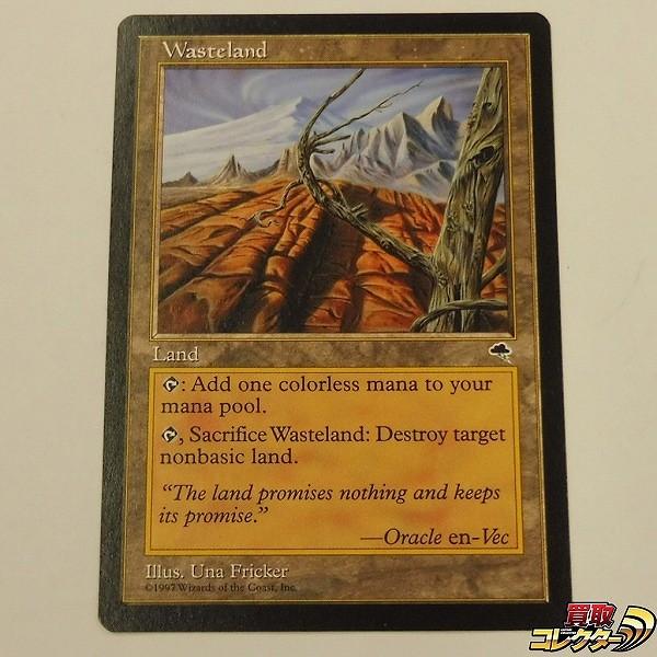MTG 土地 不毛の大地 Wasteland 英語版 TMP アンコモン レガシー
