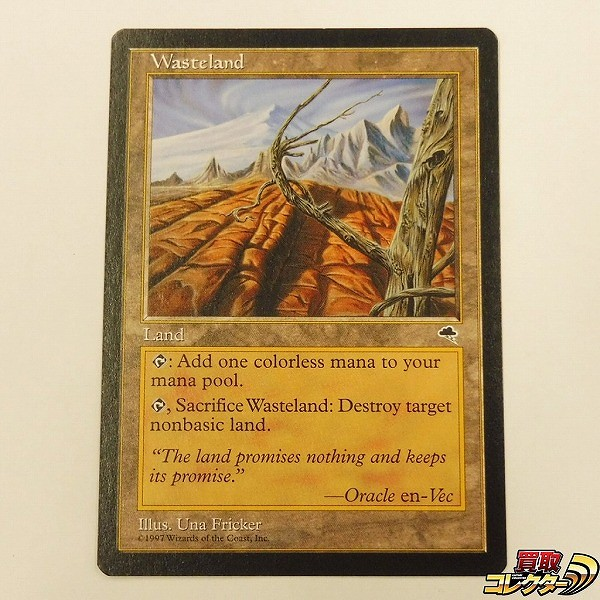 MTG 土地 不毛の大地 Wasteland 英語版 1枚 TMP U アンコモン