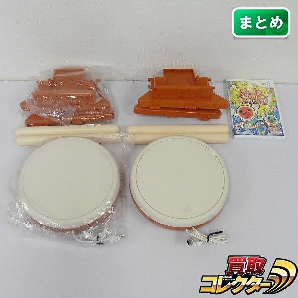 Wii ソフト 太鼓の達人Wii ドドーンと2代目! & 太鼓とバチ 2セット / タタコン