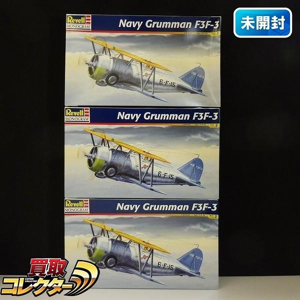 レベル モノグラム 1/32 グラマン F3F-3 ×3 / Navy Grumman