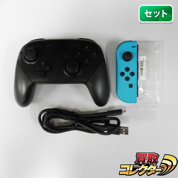 Nintendo Switch Pro コントローラー Joy-Con(L) ネオンブルー