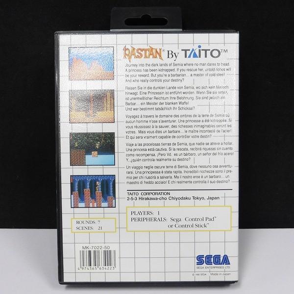 セガ・マスターシステム ソフト TAITO RASTAN / ラスタンサーガ_2
