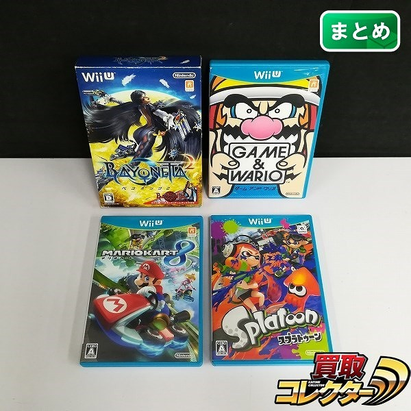 WiiU ソフト ベヨネッタ2 ゲーム&ワリオ スプラトゥーン マリオカート8