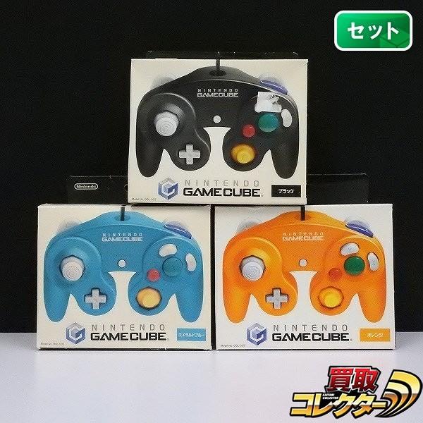 ゲームキューブ コントローラー エメラルドブルー オレンジ ブラック_1