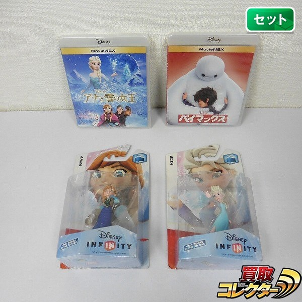 BD Movie NEX アナと雪の女王 ベイマックス + キャラクターフィギュア アナ エルサ_1