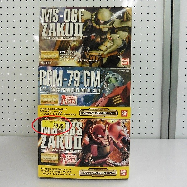 MG 1/100 シャア専用ザク ver.2.0 ジム ver.2.0 ザク ver.2.0_2