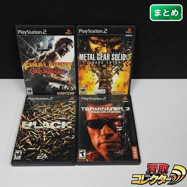 PS2 海外/北米版 ソフト ファイナルファイト ストリートワイズ 他