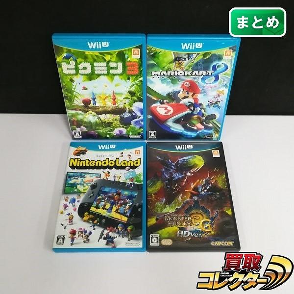 Wii U ソフト モンスターハンター3G HD Ver. ピクミン3 ニンテンドーランド 他_1