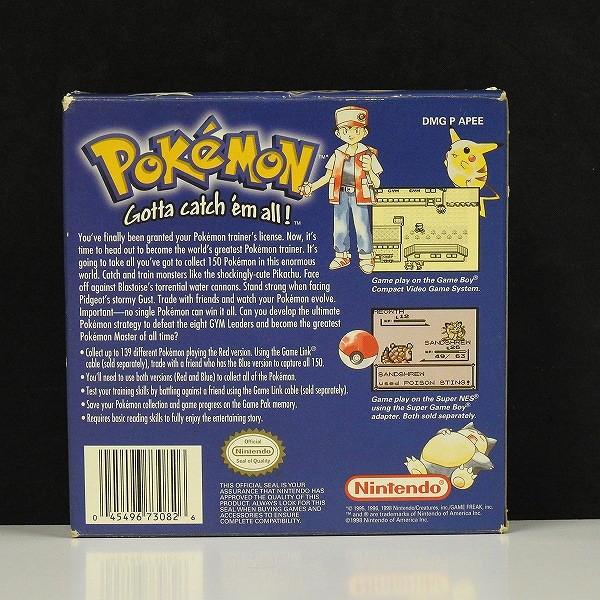ゲームボーイ ポケットモンスター 青 Pokemon Blue Version 北米版_2