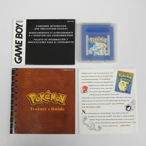 ゲームボーイ ポケットモンスター 青 Pokemon Blue Version 北米版_3