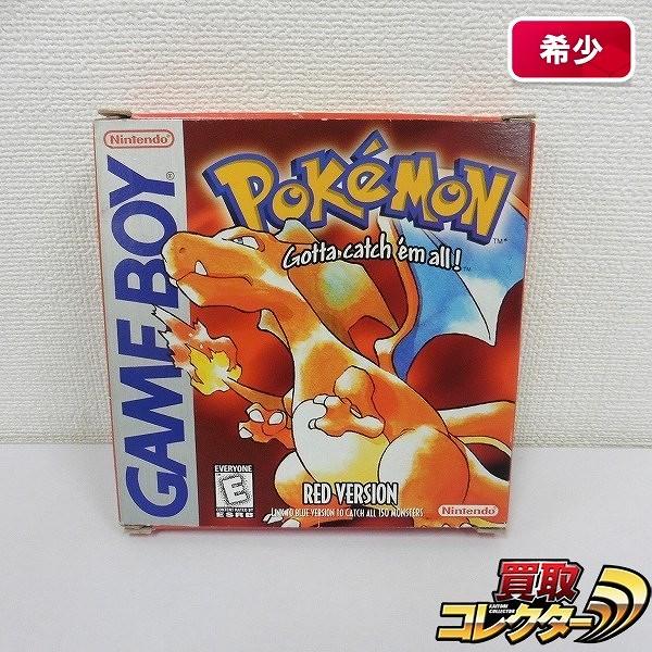 ゲームボーイ ソフト ポケットモンスター 赤  Pokemon RED VERSION 北米版