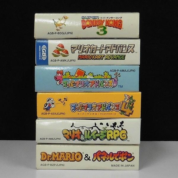 ゲームボーイアドバンス ソフト Dr.MARIO&パネルでポン マリオカートアドバンス スーパードンキーコング3 他_2
